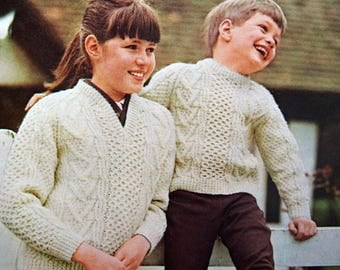 The Bernat Book Of Irish Knits By Bernat Book 145 Vintage Knitting Pattern Booklet 1967