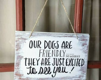 Dog Sign For Front Door