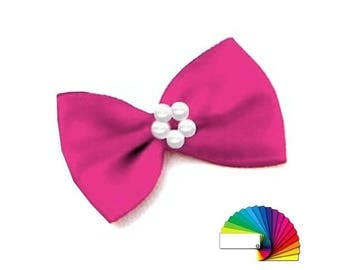 10 Ribbon Bow With Pearls Bow Tie