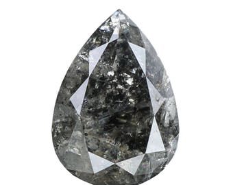 1.42 Ct Natural Loose Diamond Pear Salt And Pepper 8.90X6.30X3.30 MM L8650
