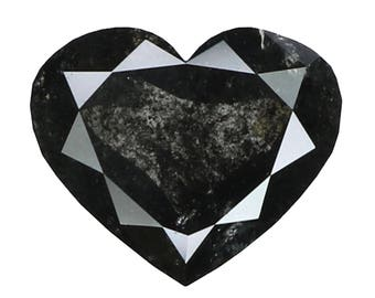 1.15 Ct Natural Loose Diamond Heart Salt And Pepper 7.80X6.50X2.90 MM LG8662