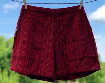 Comfy Woven Shorts: Poppy Field