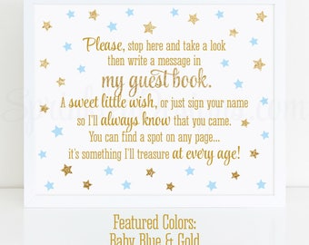 Guest book sign wording baby shower