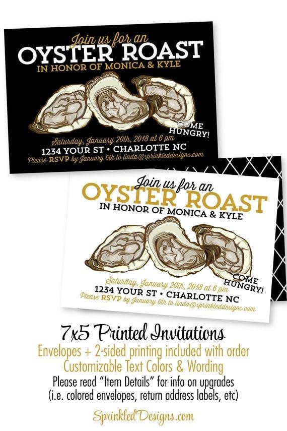 Oyster Roast Invitations Oyster Roast Dinner Party