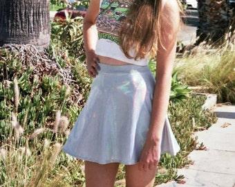 Holographic Skater Skirt