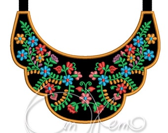 MACHINE EMBROIDERY DESIGN - Mexican necklace, Mexican embroidery