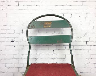 Vintage Clamp On Boat Chair 1950s Woodstock Metal Products Clamping Jon Boat Chair Vintage Fishing Chair Vintage Folding Boat Seat