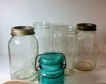 Fantastic Mixed Lot of Vintage/Antique Canning Jars