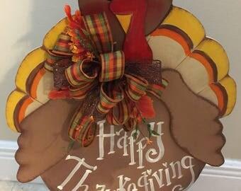 Turkey Stand,Thanksgiving Turkey Decoration, Turkey and hat Thanksgiving porch Stand,Fall Decoration,Turkey stand, turkey wreath  decoration