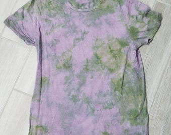 Misfit Sale Item - Lavender and Green Ice Dyed T-Shirt Size Large