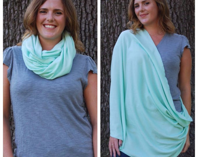 Mint Green Nursing Scarf
