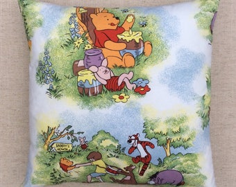 Winnie The Pooh Fabric Cushion With Interior 40cmx40cm