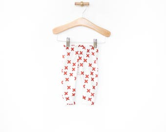 gender neutral baby clothes, baby girl leggings, leggings, newborn baby leggings, cross leggings, kids leggings, baby shower gift