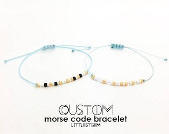 Custom Morse Code Bracelet - Personalized Gift - Best Friend Gift - Friendship Bracelet - Birthday Gift - Customizable - beauty gift