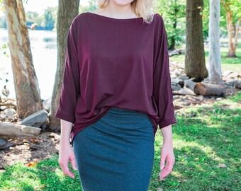 Round Hem Knit Skirt