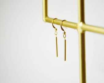 Boucles MELETE // dorées à l'or fin