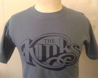 The Kinks Printed T-shirt Top Rare Mod 60s Vintage Tour Style Ray Dave Davies LP Album Mono Single