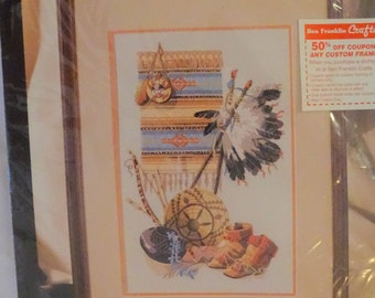 Vintage Bucilla Crewel Kit Native Heritage 40869 FREE Shipping USA