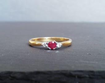 Ruby & Diamond Gold Ring