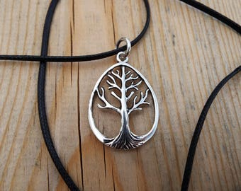 Tree of Life Pendant Silver Handmade Necklace Sterling 925 Jewelry Symbol Nature