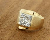 Magnificent 1ctTW Wide Diamond Ring 14K Gold
