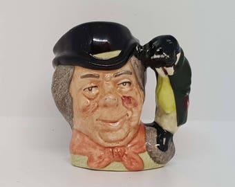 Royal Doulton Miniature Character Jug The Walrus and Carpenter D6608 6.6cm x 6.4cm x 4.2cm