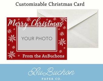 Customizable Christmas Card (front only)