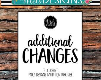 ADDITIONAL CHANGES To Mols Designs Invitation Design