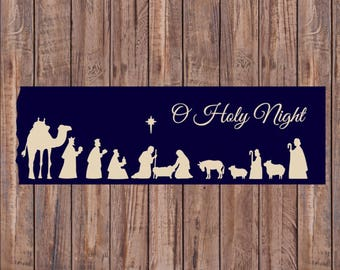 Christmas Vinyl Decal, Nativity Sign Decal, Wood Sign Vinyl Decal, Christmas Decal, Vinyl Decal, Christmas Decor, DIY wood signs, Christmas