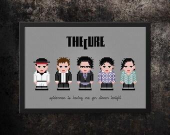 Cure Modern Cross Stitch Pattern PDF | Rock Bands Cross Stitch | Band Members | Song Quotes Cross Stitch Charts | DIY Gift Idea For Cure Fan