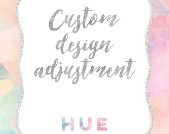 custom design adjustment for an invitation from hue invitations