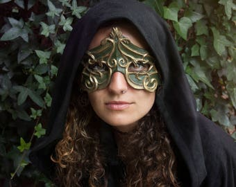Elvish resin mask. Baroque masquerade. Sorceress costume . Natural motifs mascara. Art noveau inspired witch mask. Ritual. Larp. Vampire.