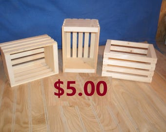 small wooden crate, wood crate, wooden storage crate, small crate, small storage crate