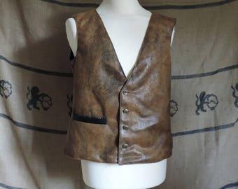 Man jacket, steampunk, leather imitation