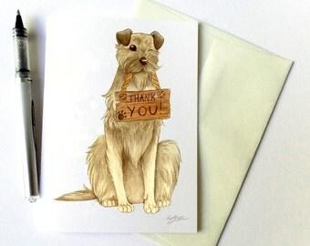 Irish WolfHound Thank You Card