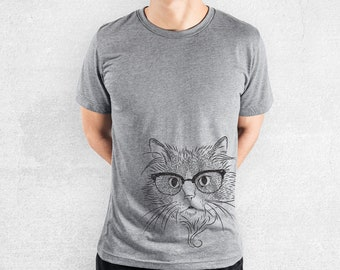 Daniel the Ragdoll Cat - Tri-Blend Unisex Crew Grey - Cat Lover Gift