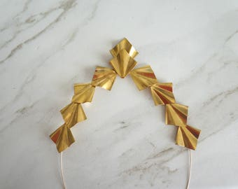 Gold crown, Brass unique crown, Bridal head piece, Bridal accessory, ethereal, intricate, Gold bridal, Gold headband, gold headpiece