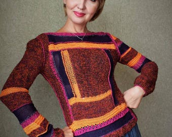 """Knitted pullover """"Indian summer """""""