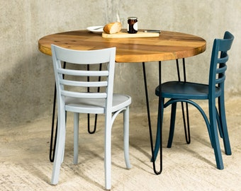 ORBIT   Reclaimed Dining Table   Hairpin Legs