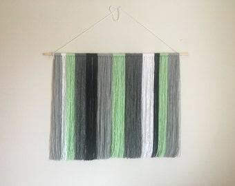 Large Handcrafted Yarn Wall Hanging // Boho Wall Decor // Yarn Wall Tapestry
