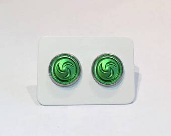 Stainless Stud Earrings Forest Medallion The Legend of Zelda: Ocarina of Time