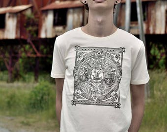 T-shirt DURIFOIID - Man - Linocut on organic cotton - limited and numbered series