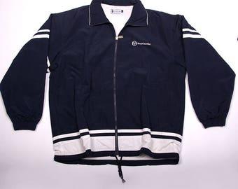 Vintage Sergio Tacchini Zip Up Navy Windbreaker Jacket