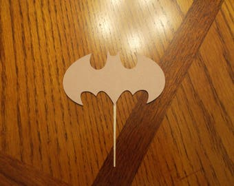 12 Batman Cupcake Toppers! Choose your color!!