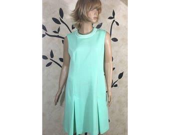 Womens dress, Evening dress, Teal dress, Mint Green dress, 1960's dress, Summer dress, Vintage dress