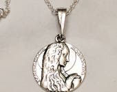 Necklace - Mary of Magdala Sterling Silver - 18mm + 18 inch Sterling Silver Chain