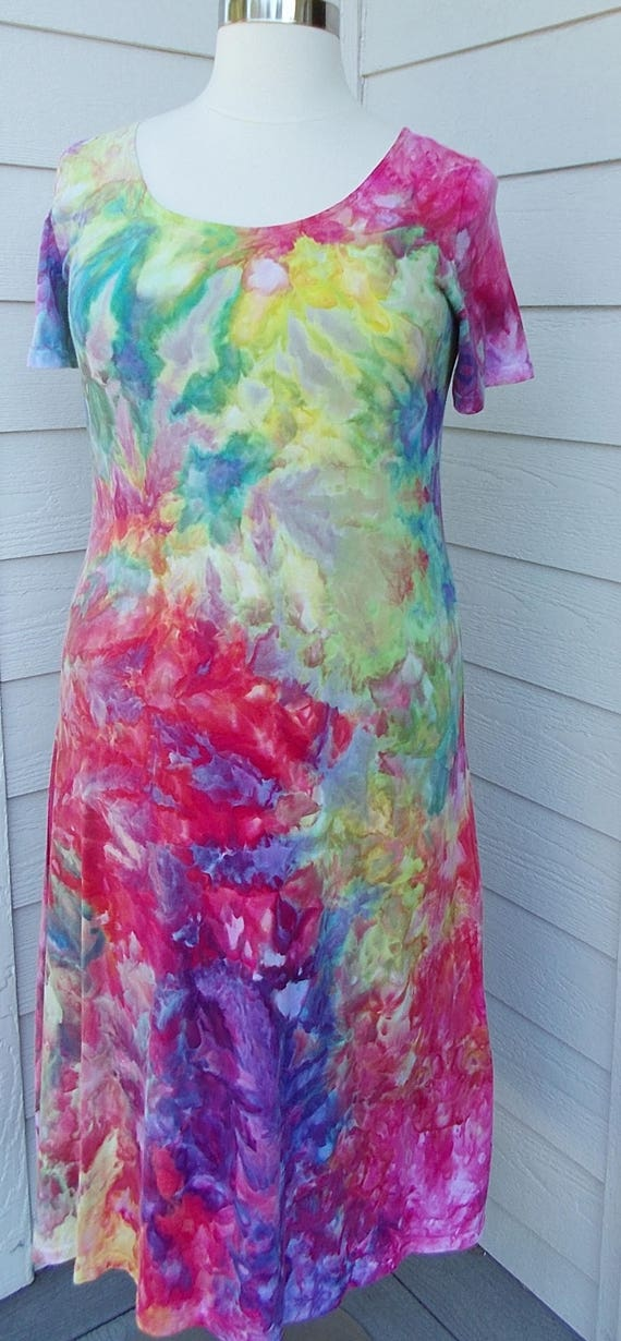 End of Summer Sale! Ice dye tie dye Dress  XL Multi