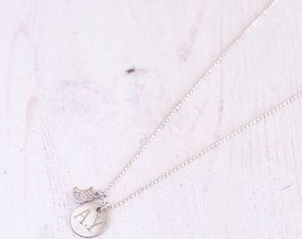 Personalized Necklace - Silver Necklace - Engraved Necklace - Personalized Gift - Custom Necklace - Initials Necklace - Coordinates Necklace