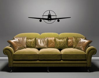 P-51D Mustang - Front - Removable Wall Art Vinyl Decal / Sticker