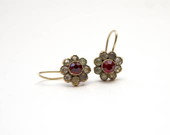 14k Victorian Paste Earrings